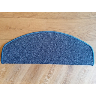 Schodový nášlap kobercový Quartz Modrý